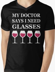 Glasses of Wine Mens V-Neck T-Shirt