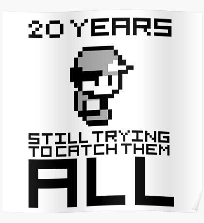 Pokemon 20 Years Anniversary Poster