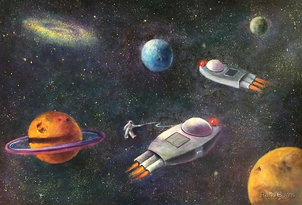 1960's Outer Space Adventure by Randol Burns
