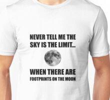 Footprints On The Moon Unisex T-Shirt