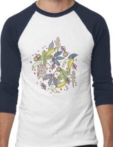 go green in spring! Men's Baseball ¾ T-Shirt