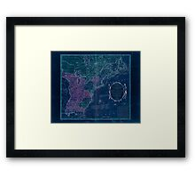 American Revolutionary War Era Maps 1750-1786 351 Bowles's new pocket map of the United States of America the British possessions of Canada Nova Scotia and Inverted Framed Print