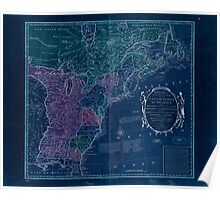 American Revolutionary War Era Maps 1750-1786 351 Bowles's new pocket map of the United States of America the British possessions of Canada Nova Scotia and Inverted Poster