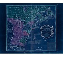 American Revolutionary War Era Maps 1750-1786 351 Bowles's new pocket map of the United States of America the British possessions of Canada Nova Scotia and Inverted Photographic Print