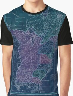 American Revolutionary War Era Maps 1750-1786 351 Bowles's new pocket map of the United States of America the British possessions of Canada Nova Scotia and Inverted Graphic T-Shirt