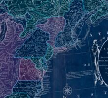 American Revolutionary War Era Maps 1750-1786 351 Bowles's new pocket map of the United States of America the British possessions of Canada Nova Scotia and Inverted Sticker