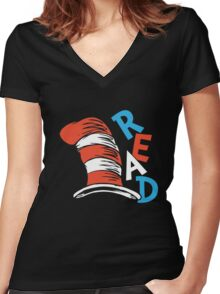 READ ACROSS AMERICA DAY  Women's Fitted V-Neck T-Shirt