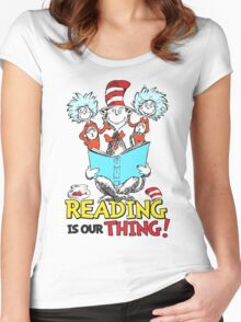 READ ACROSS AMERICA DAY - Dr Seuss Women's Fitted Scoop T-Shirt