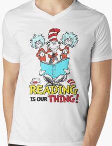 READ ACROSS AMERICA DAY - Dr Seuss Mens V-Neck T-Shirt
