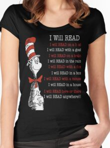 I Will Read - Read Across America Day 2016 Women's Fitted Scoop T-Shirt