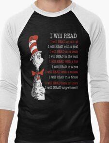 I Will Read - Read Across America Day 2016 Men's Baseball ¾ T-Shirt
