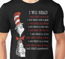 I Will Read - Read Across America Day 2016 Unisex T-Shirt