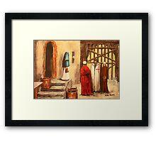The Courtyard Conversation Framed Print