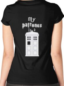 My patronus is a box Women's Fitted Scoop T-Shirt