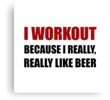 Workout Beer Canvas Print