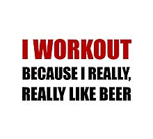 Workout Beer Photographic Print