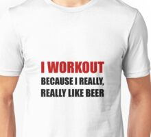 Workout Beer Unisex T-Shirt