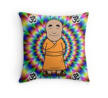 Monk psychedelic Throw Pillow