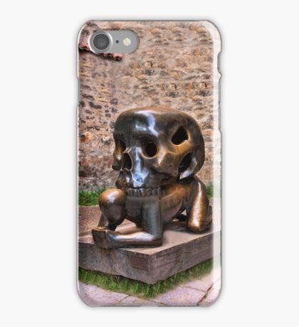 Man and Skull Prague Castle-VARIOUS APPAREL iPhone Case/Skin