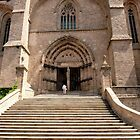 Stairs to the church - Chaise-Dieu (France) by bubblehex08