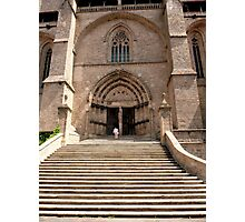 Stairs to the church - Chaise-Dieu (France) Photographic Print