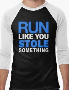 Run like you stole something Men's Baseball ¾ T-Shirt