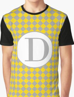 D Checkard Graphic T-Shirt