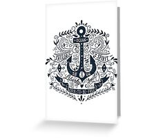 Nautical vintage label with an anchor and hand lettering. Greeting Card