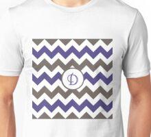 Purple Chevron D Unisex T-Shirt