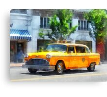 Vintage Checkered Cab Canvas Print