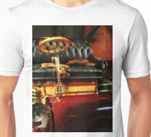 Wooden Steering Wheel On Car Unisex T-Shirt