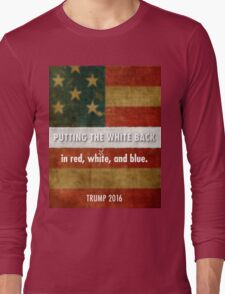 red, white and blue Long Sleeve T-Shirt