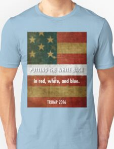 red, white and blue Unisex T-Shirt
