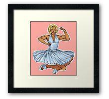 Marilyn!Kanji Framed Print