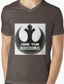 Rebels Mens V-Neck T-Shirt