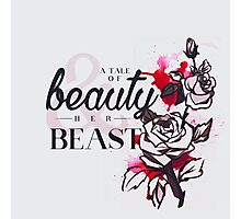 The tale of a beauty and her beast. Photographic Print