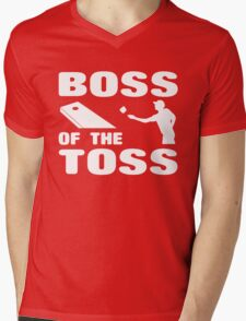 Cornhole Boss of the Toss Mens V-Neck T-Shirt