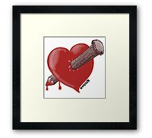 heart with love and hard stick Framed Print