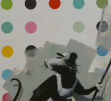 Banksy Does Damien Hirst Sticker
