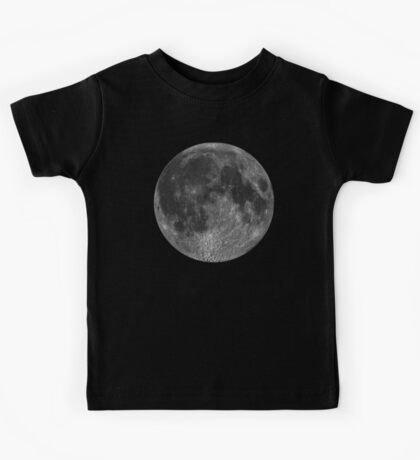 Lunar, MOON, Lunatic, Cosmos, Cosmic, Space, Near side of the Moon. Kids Tee