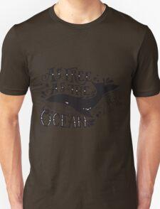 As free as the ocean.  Unisex T-Shirt