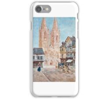 Herbert Menzies Marshall - The Cathedral Front, St. Lô iPhone Case/Skin