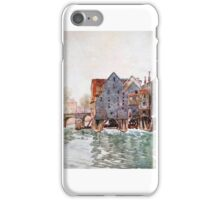 Herbert Menzies Marshall - The Old Mills at Meaux iPhone Case/Skin