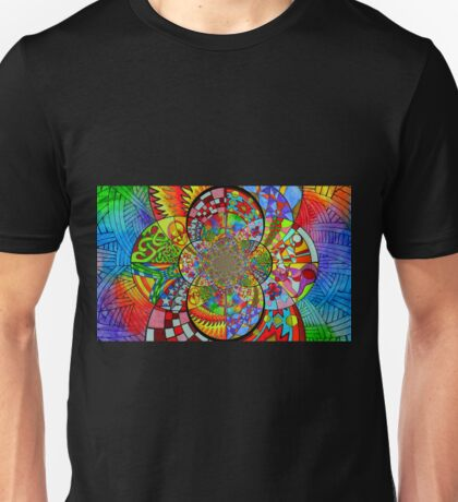 Zentangle Fractal Unisex T-Shirt