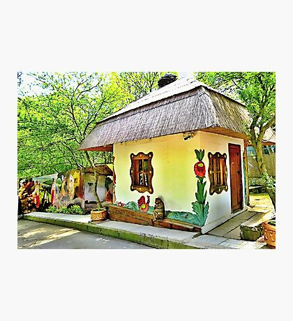 Colourful magic little house Photographic Print