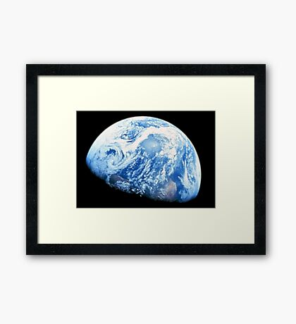EARTH, PLANET, SPACE, Blue planet, Earthrise, Apollo 8, 1968 Framed Print