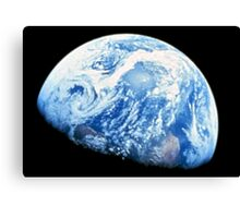 EARTH, PLANET, SPACE, Blue planet, Earthrise, Apollo 8, 1968 Canvas Print