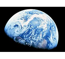 EARTH, PLANET, SPACE, Blue planet, Earthrise, Apollo 8, 1968 Photographic Print