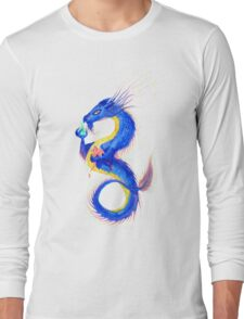 Rainbow Sky Dragon Long Sleeve T-Shirt