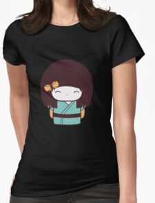 Cute Kokeshi Doll - 2 Womens Fitted T-Shirt